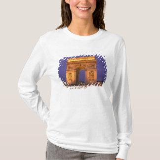France, Paris, Arc de Triomphe at dusk. T-Shirt