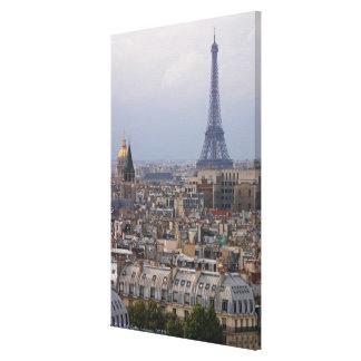 France, Paris, cityscape with Eiffel Tower Canvas Prints