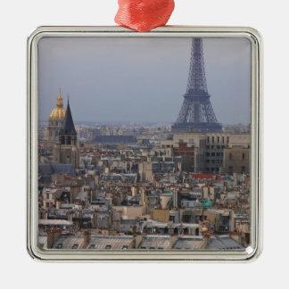 France, Paris, cityscape with Eiffel Tower Christmas Ornament