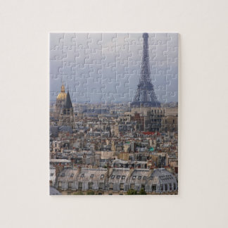 France, Paris, cityscape with Eiffel Tower Jigsaw Puzzle