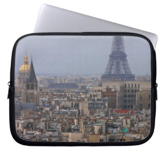France, Paris, cityscape with Eiffel Tower Laptop Sleeve
