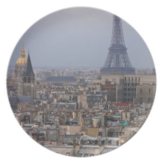 France, Paris, cityscape with Eiffel Tower Plate