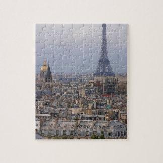 France, Paris, cityscape with Eiffel Tower Puzzles