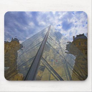 France, Paris. Clouds reflect off the Louvre Mouse Mat