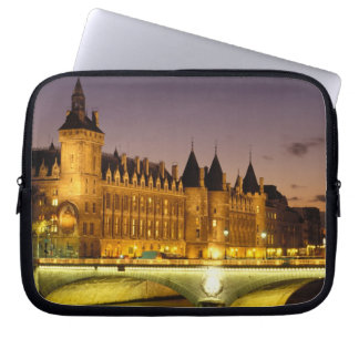 France, Paris, Conciergerie and river Seine at Laptop Sleeve