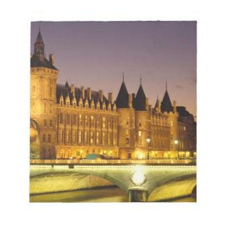 France, Paris, Conciergerie and river Seine at Notepad