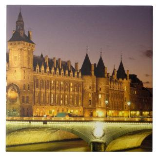 France, Paris, Conciergerie and river Seine at Tile