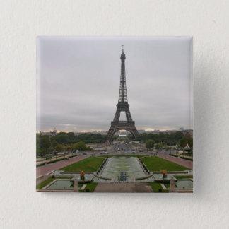 France, Paris, Eiffel Tower 15 Cm Square Badge