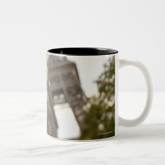 France, Paris, Eiffel Tower 2 Two-Tone Coffee Mug