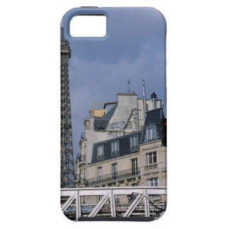 France, Paris, Eiffel Tower behind metro train Case For The iPhone 5