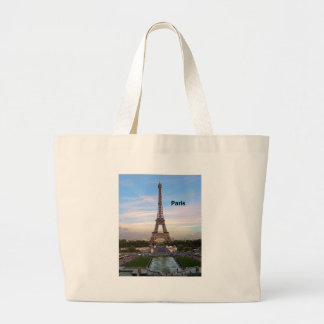 France Paris Eiffel Tower (by St.K) Large Tote Bag