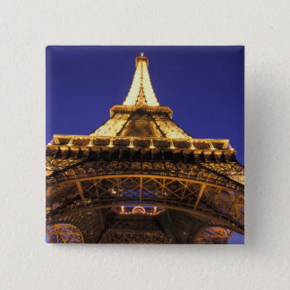 FRANCE, Paris Eiffel Tower, evening view 15 Cm Square Badge