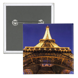 FRANCE, Paris Eiffel Tower, evening view Pinback Button