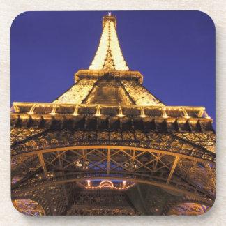 FRANCE, Paris Eiffel Tower, evening view Beverage Coasters