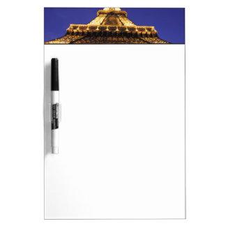 FRANCE, Paris Eiffel Tower, evening view Dry Erase Whiteboard