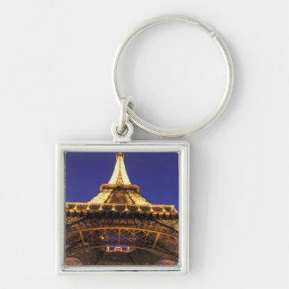 FRANCE, Paris Eiffel Tower, evening view Keychain