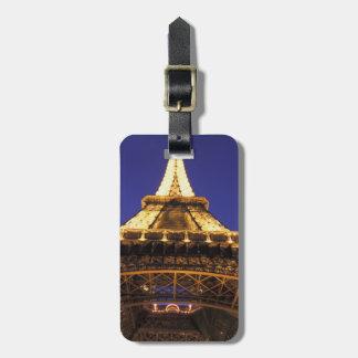 FRANCE, Paris Eiffel Tower, evening view Luggage Tag