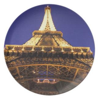 FRANCE, Paris Eiffel Tower, evening view Party Plates