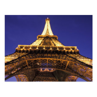 FRANCE, Paris Eiffel Tower, evening view Postcard