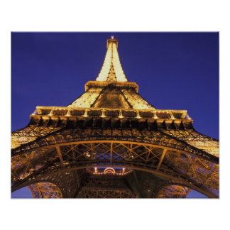 FRANCE, Paris Eiffel Tower, evening view Poster