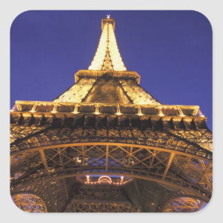 FRANCE, Paris Eiffel Tower, evening view Square Sticker