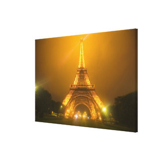 France, Paris. Eiffel Tower illuminated at 3 Canvas Print