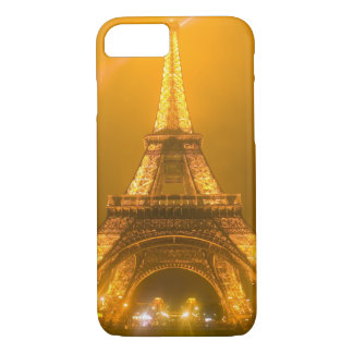 France, Paris. Eiffel Tower illuminated at 3 iPhone 8/7 Case