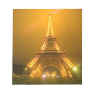 France, Paris. Eiffel Tower illuminated at 3 Notepad