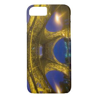 France, Paris. Eiffel Tower illuminated at iPhone 7 Case