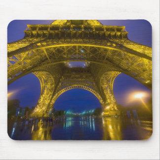 France, Paris. Eiffel Tower illuminated at Mouse Mat