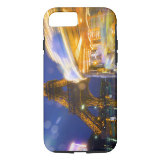 France, Paris. Eiffel Tower in twilight fog and iPhone 8/7 Case