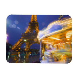 France, Paris. Eiffel Tower in twilight fog and Rectangle Magnets