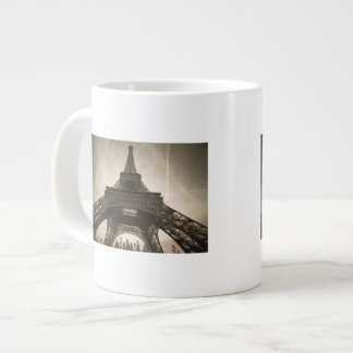 France, Paris, Eiffel Tower Large Coffee Mug