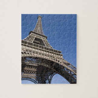 France, Paris, Eiffel Tower, low angle view Jigsaw Puzzle