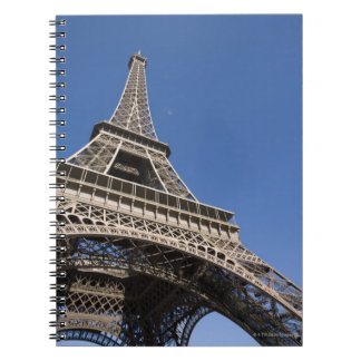 France, Paris, Eiffel Tower, low angle view Notebook