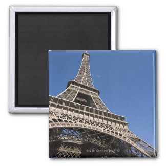 France, Paris, Eiffel Tower, low angle view Square Magnet