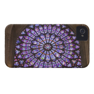 France, Paris. Interior detail of stained glass iPhone 4 Cover