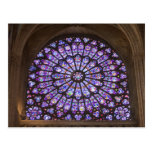 France, Paris. Interior detail of stained glass Post Card