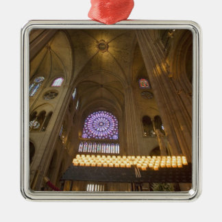 France, Paris. Interior of Notre Dame Cathedral. Christmas Ornament