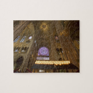 France, Paris. Interior of Notre Dame Cathedral. Jigsaw Puzzle
