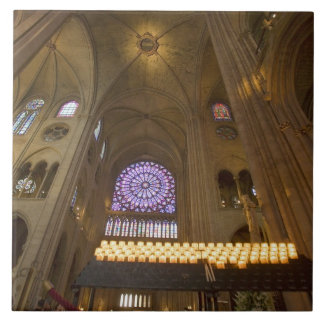 France, Paris. Interior of Notre Dame Cathedral. Tile