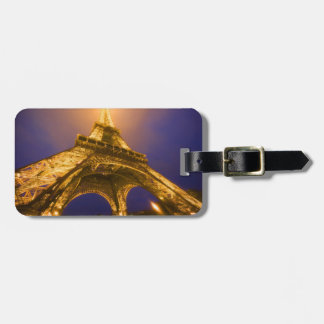 France, Paris. Looking up from base of Eiffel Luggage Tag