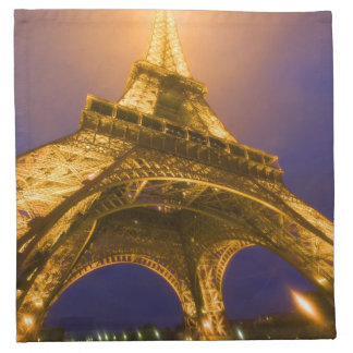 France, Paris. Looking up from base of Eiffel Napkin