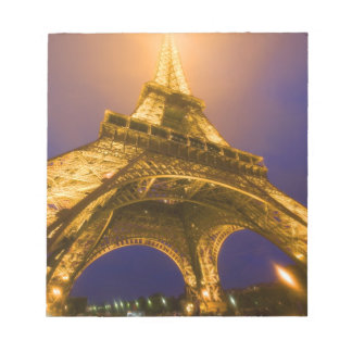 France, Paris. Looking up from base of Eiffel Notepad
