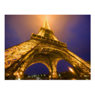 France, Paris. Looking up from base of Eiffel Postcard