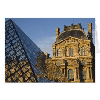France, Paris, Louvre Museum and the Pyramid, Card