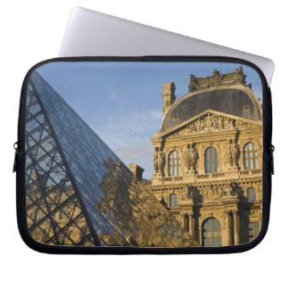 France, Paris, Louvre Museum and the Pyramid, Laptop Sleeve