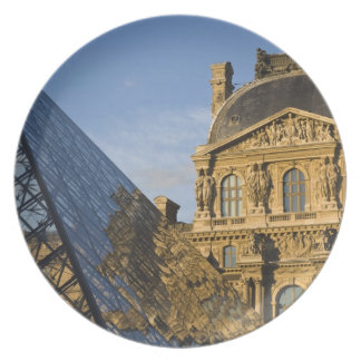 France, Paris, Louvre Museum and the Pyramid, Plate