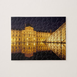 France, Paris, Louvre museum by night. Jigsaw Puzzle