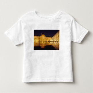 France, Paris, Louvre museum by night. Toddler T-Shirt